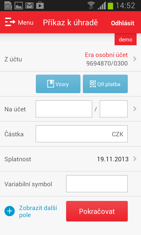 Era smartbanking- screenshot