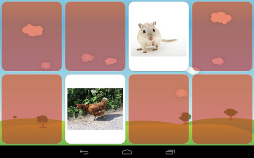 Kids memory game - Animals