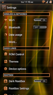 Laser Orange CM11/AOKP Theme - screenshot thumbnail