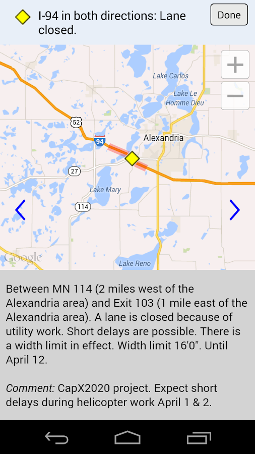 Minnesota 511 - screenshot