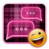 PINK Plaid Neon GO SMS Theme