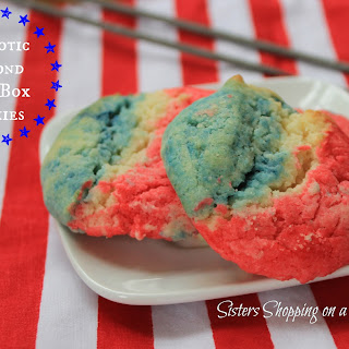 Patriotic Fourth of July Almond Cookies from Cake Mix