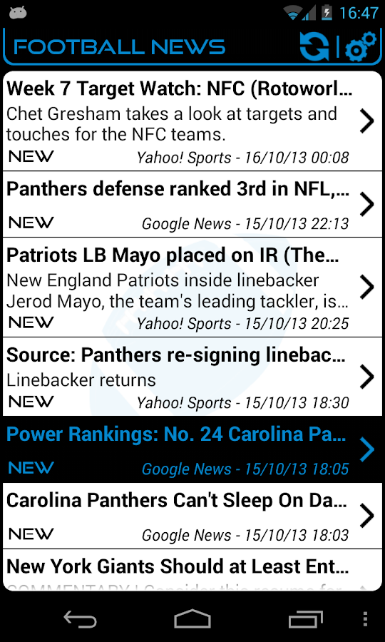 Carolina Football News - screenshot