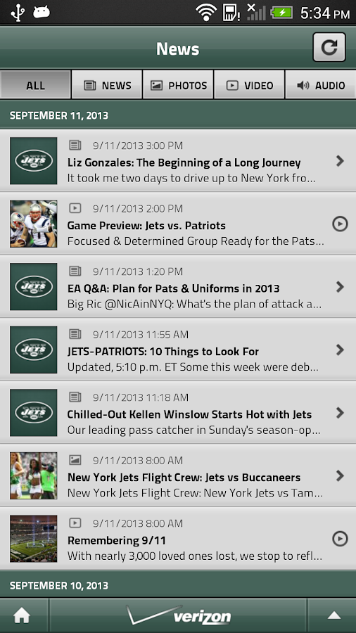 Official New York Jets - screenshot
