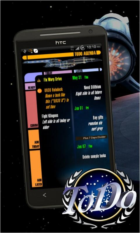 Star Trek ToDo Agenda - screenshot