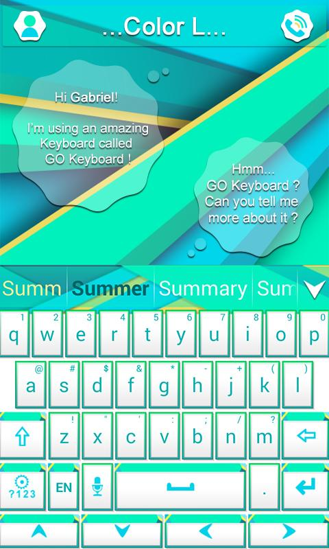 Color L GO Keyboard- screenshot
