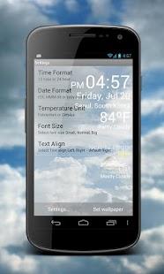Weather Clock Live- screenshot thumbnail