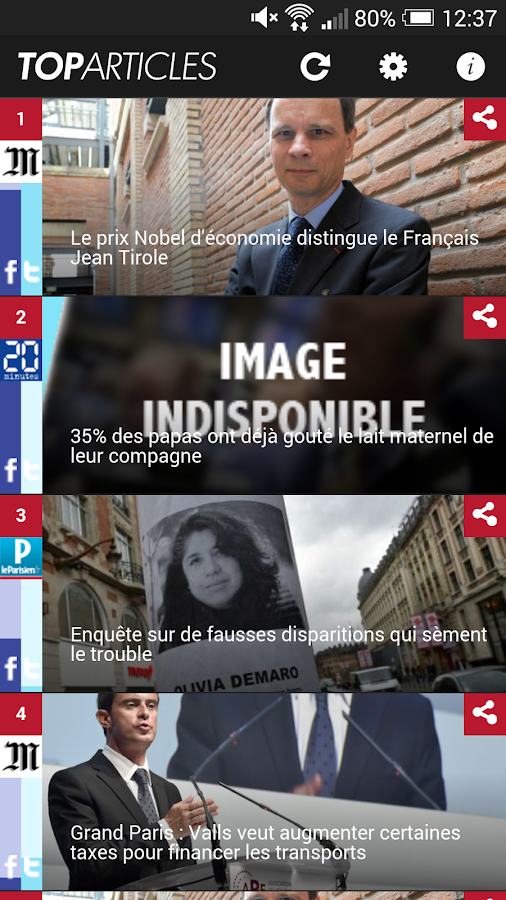 Top Articles : l'actu qui buzz- screenshot