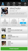 Screenshot of WeRide;Motorcycle,routes,chats