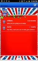 Screenshot of GO SMS - Fourth July Owl