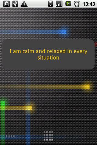 Positive affirmations - screenshot