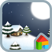 Snowy night Dodol Theme