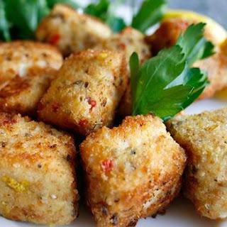 Crispy Parmesan Swordfish with Creamy Aioli Dipping Sauce