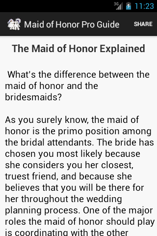 Maid of Honor Pro Guide - Android Apps on Google Play