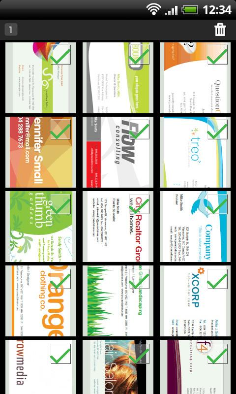 Biz cards viewer Carda- screenshot