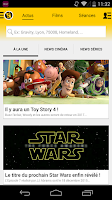 Screenshot of AlloCine