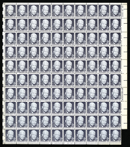 6-Cent Eisenhower stamp counterfeits