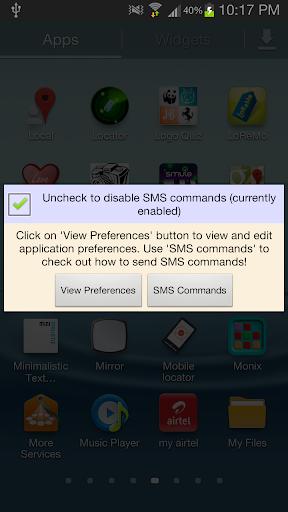 Mobile Locator using SMS