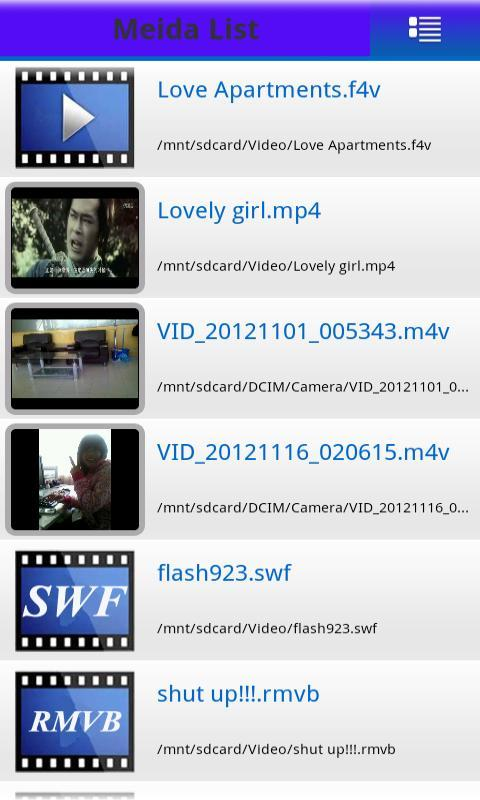 MP4 FLV WMV Media Player - screenshot