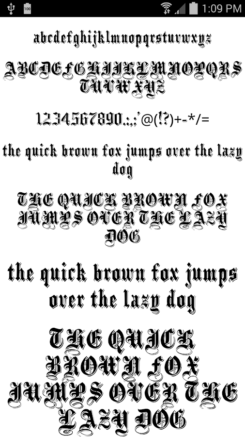 Download Fonts for FlipFont 50 #9 - Android Apps on Google Play
