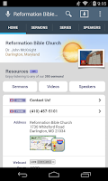 Screenshot of Reformation Bible Church
