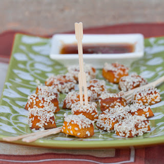 Soy Glazed Honey Roasted Pumpkin Bites