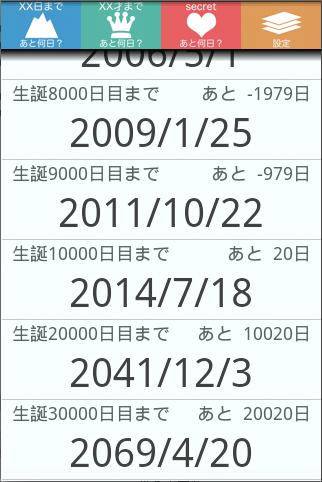 1万日計算 10000days