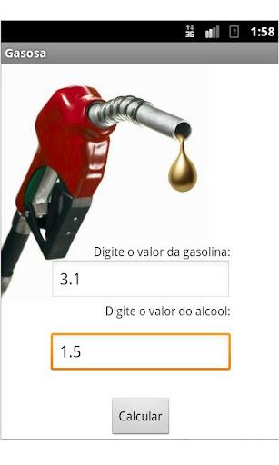 Gasosa - Gasolina ou Alcool