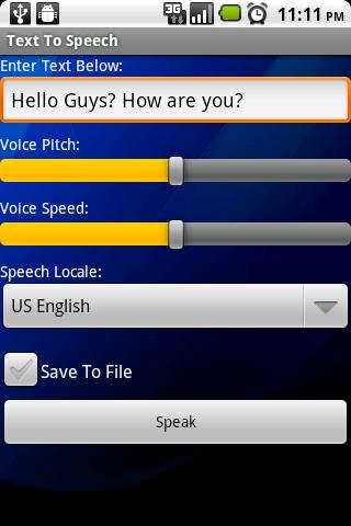 Text To Speech- screenshot