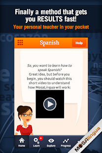 Learn Spanish with MosaLingua - screenshot thumbnail