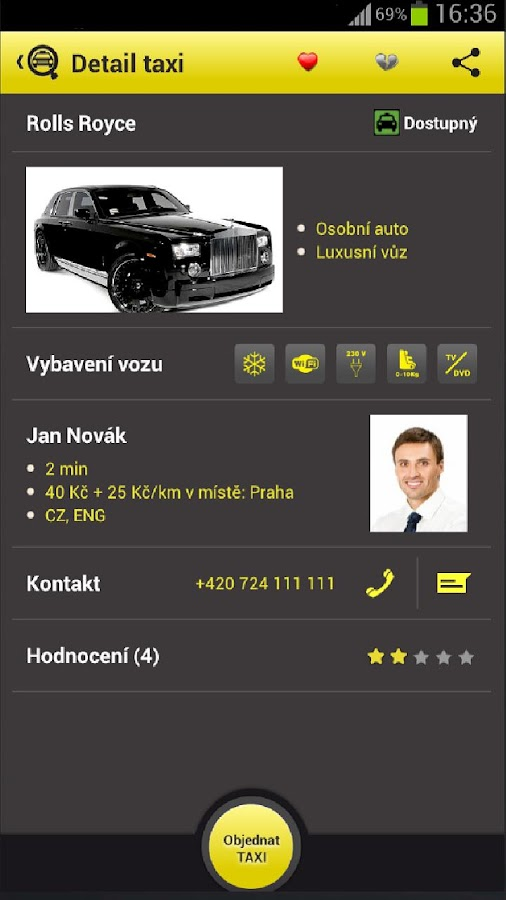 TaxiAgent- screenshot