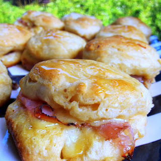 Honey Ham Biscuit Sliders.