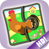 Kids Jigsaw Puzzles Farm HD