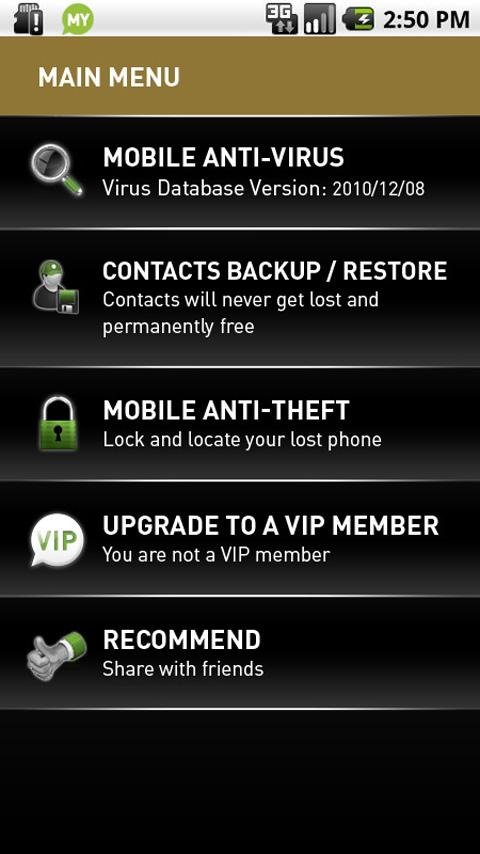 MYAndroid Protection Security - screenshot
