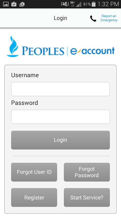 Peoples eAccount- screenshot