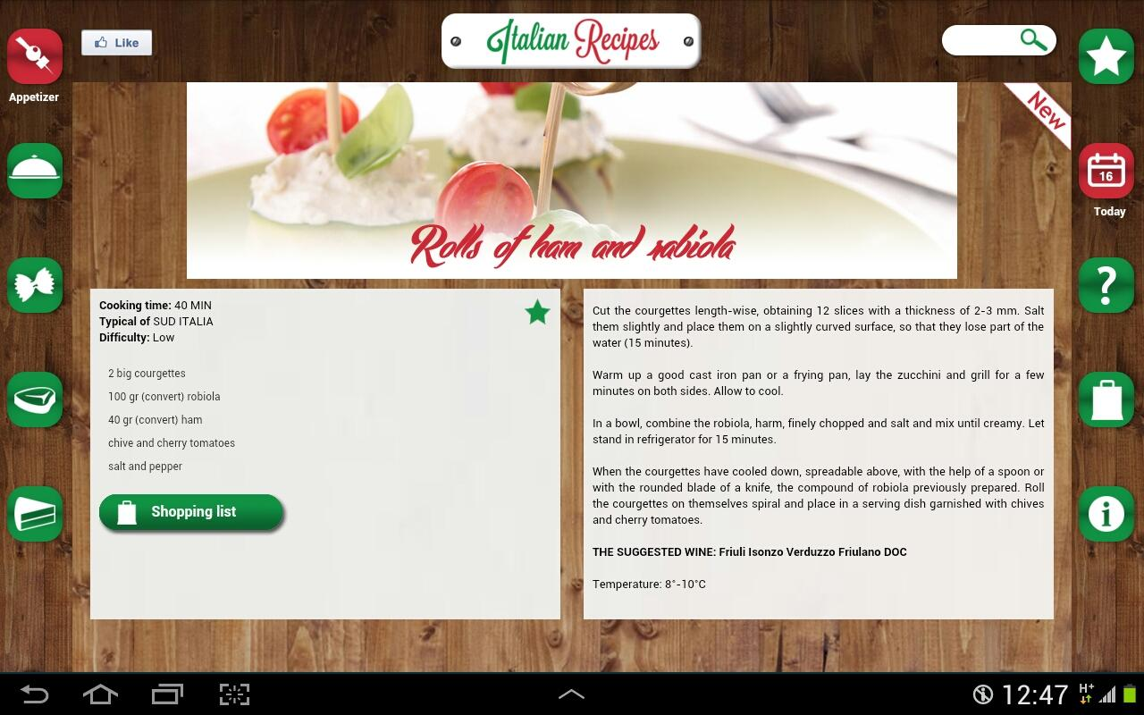 Italian Recipes Premium - screenshot
