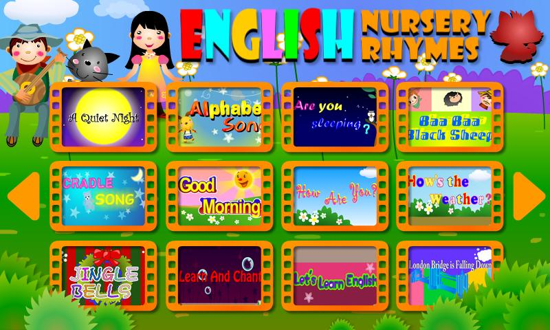 English Nursery Rhymes Free - screenshot