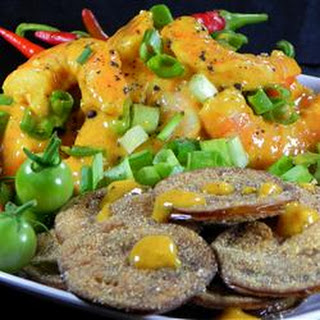 Fried Green Tomatoes with Shrimp Remoulade.