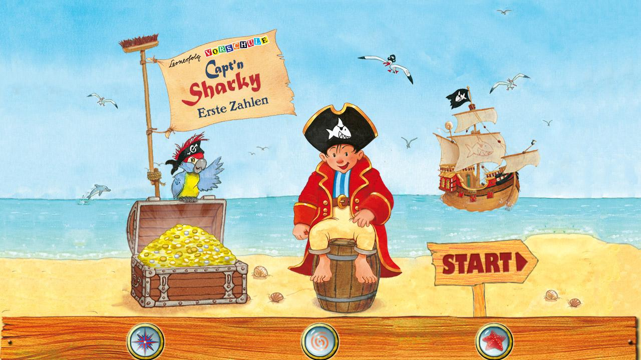 Capt'n Sharky Zahlen – Screenshot
