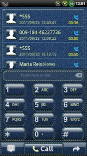 GOContacts theme Denim- screenshot thumbnail