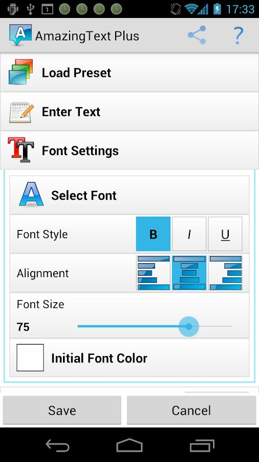 AmazingText Plus - Text Widget- screenshot
