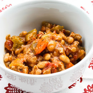 Slow Cooker Buffalo Chicken Chili.