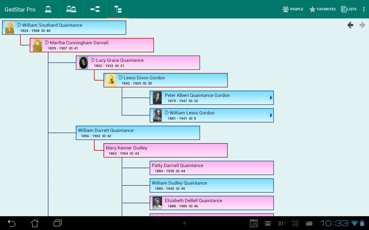 GedStar Pro Genealogy Viewer - screenshot