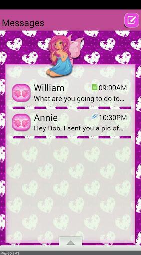 FairyHearts GO SMS THEME