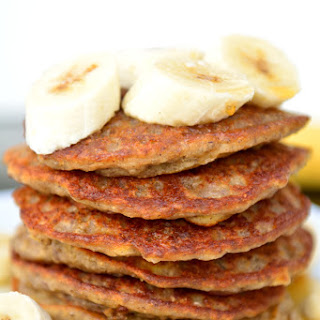 Vegan Superfood Buckwheat Banana Pancakes with Chia & Maca