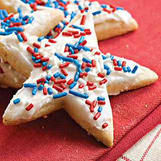 Frosted Sugar-'n'-Spice Cookies.