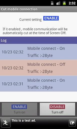 Cut mobile connection
