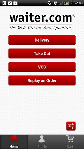 Waiter.com Food Delivery