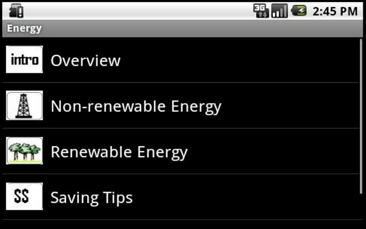 Energy sources, uses, savings! - screenshot