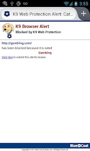 K9 Web Protection Browser - screenshot thumbnail